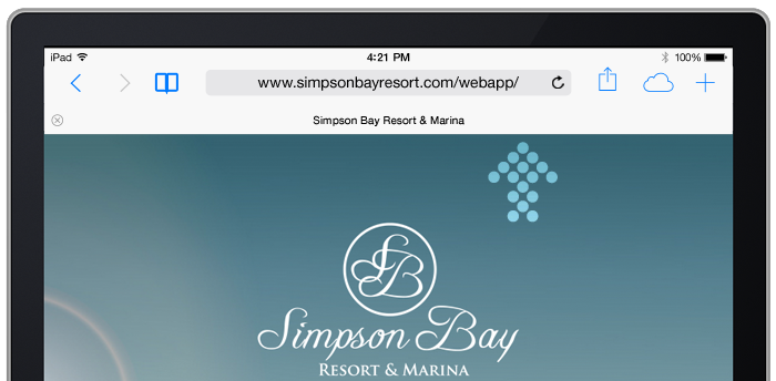 Simpson Bay Resort, Marina & Spa goes mobile