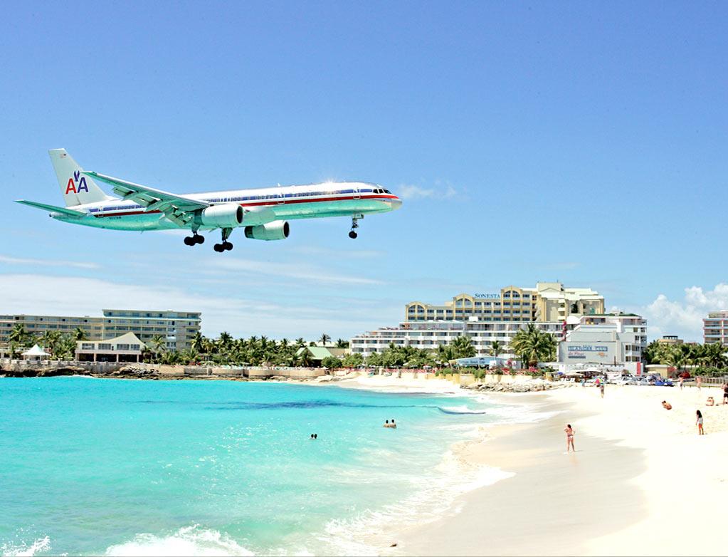 Maho Beach In St Maarten
