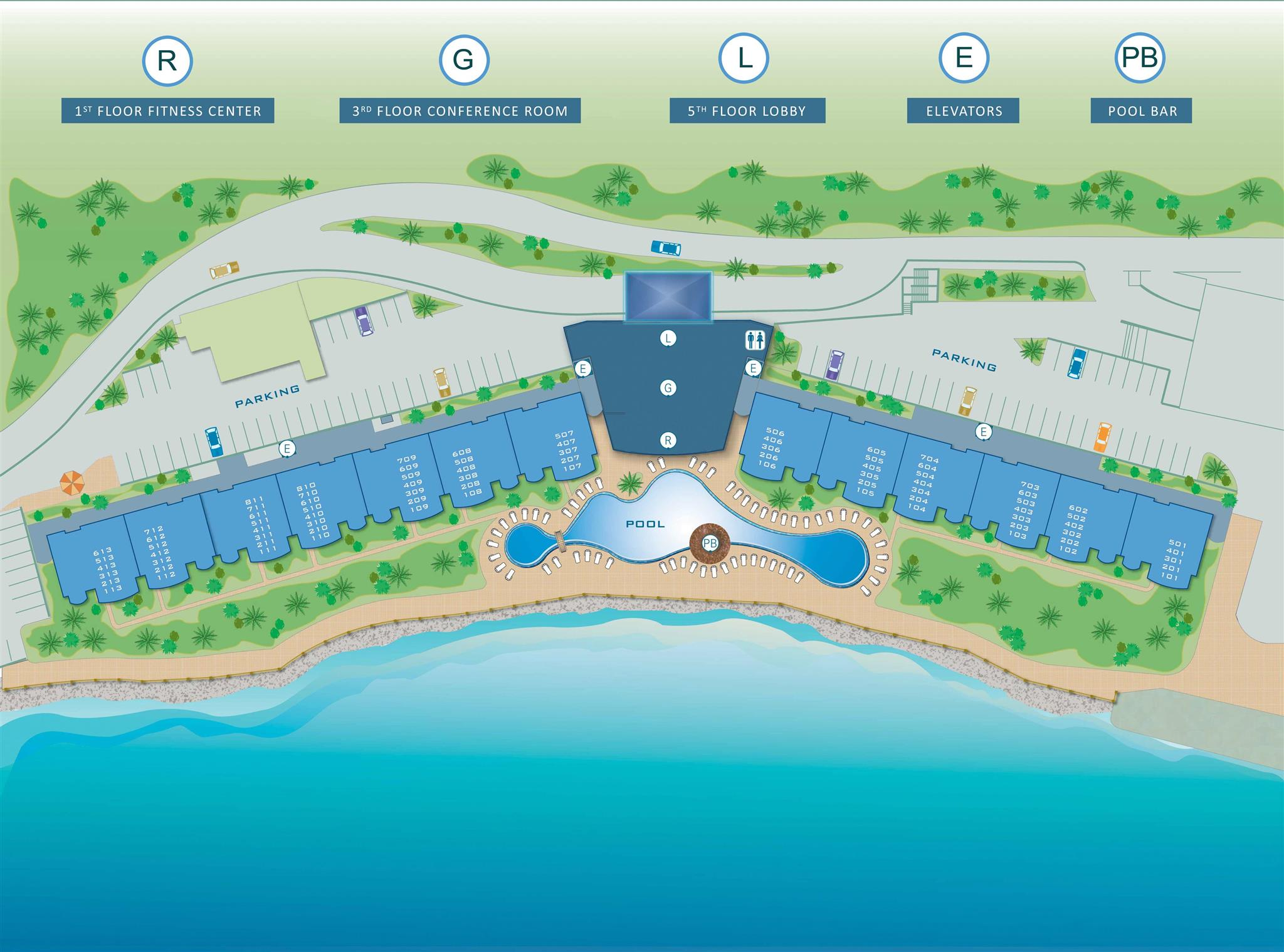 Site Plan of The Villas at Simpson Bay Resort