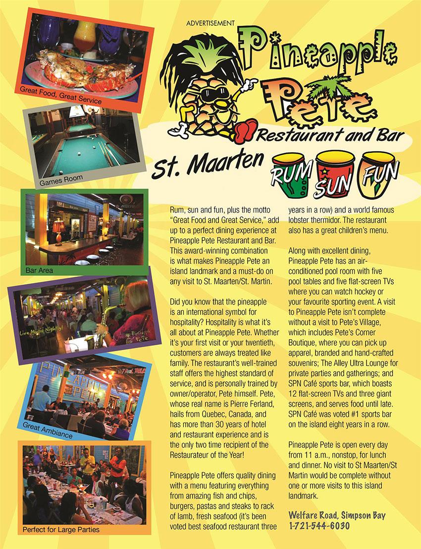 Pineapple Pete Restaurant, St. Maarten