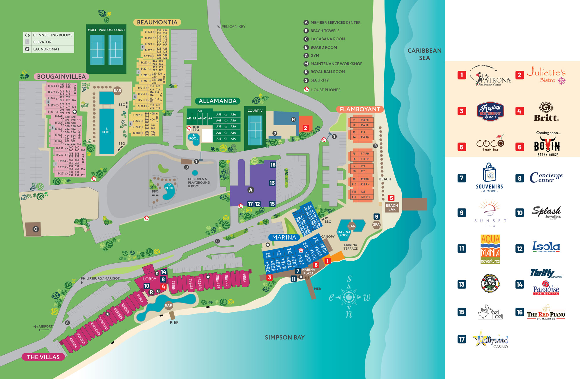 The Villas at Simpson Bay Resort - Site Plan